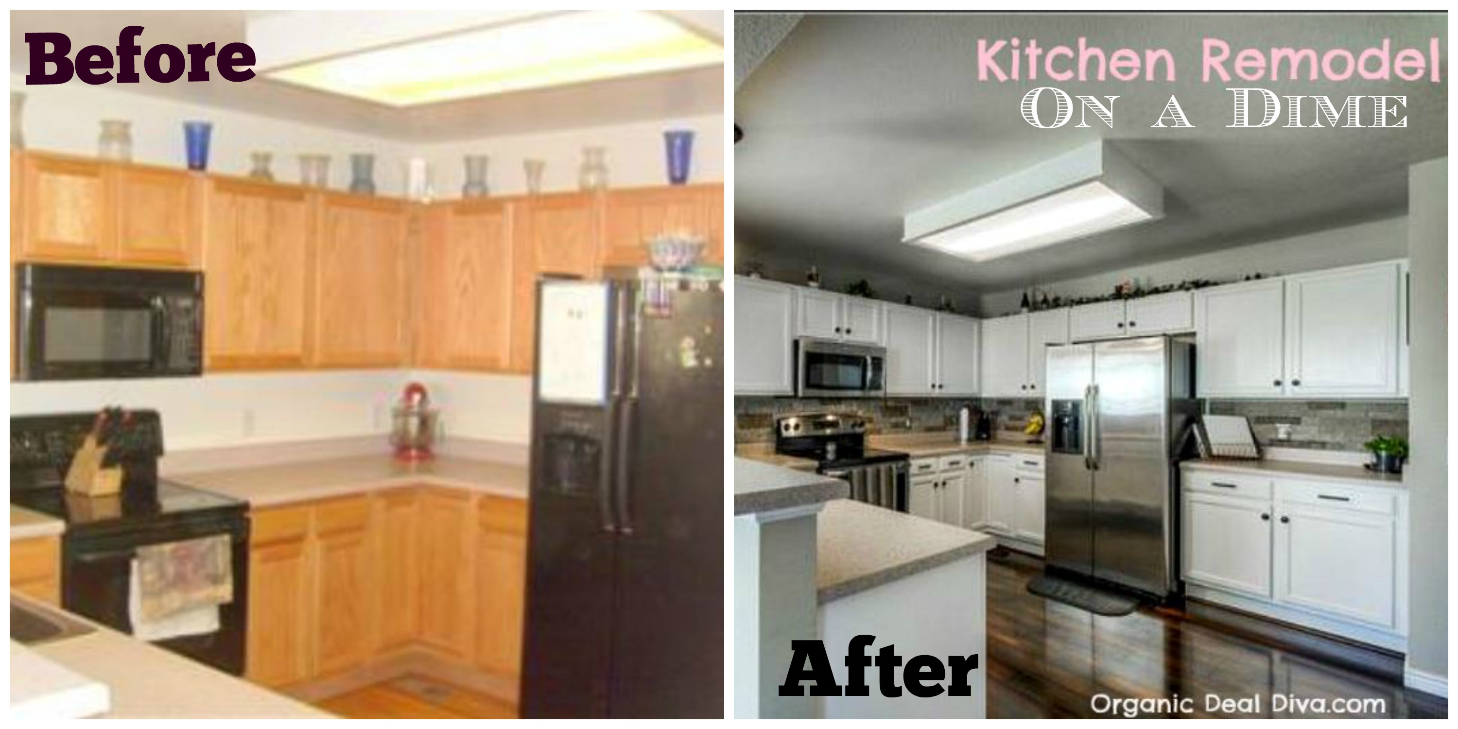 Full kitchen remodel on a budget jessi living lovely for New kitchen on a tight budget