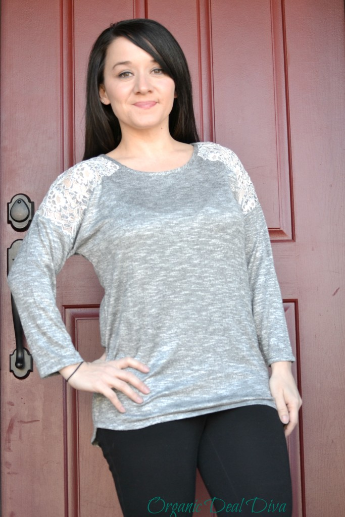 Kersten Lace Shoulder Raglan