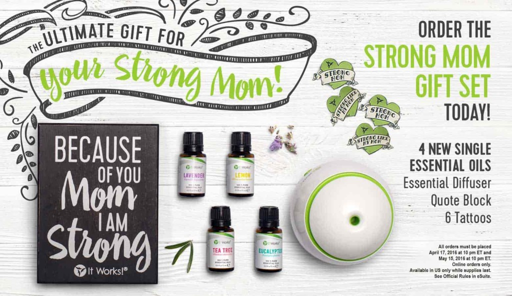 ItWorks Mother's Day Essential Oils set
