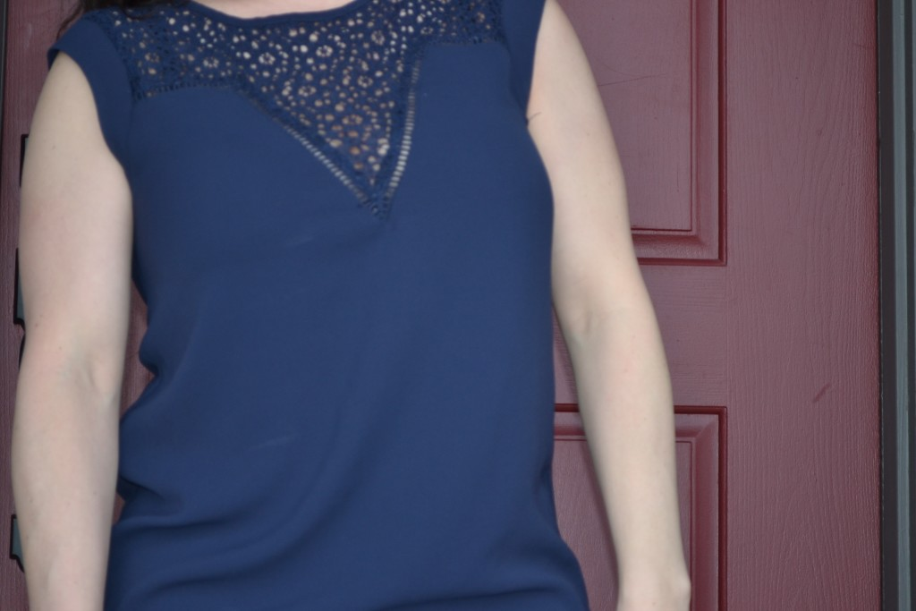 Market & Spruce Gillia Lace Detail Knit Top