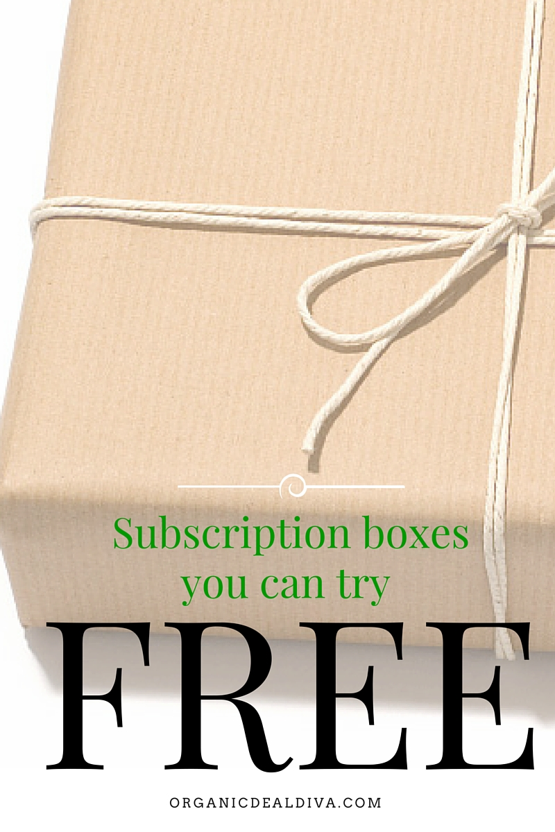 Love trying Subscription Boxes for Free? Here's an updated monthly list of boxes you can order FREE today!