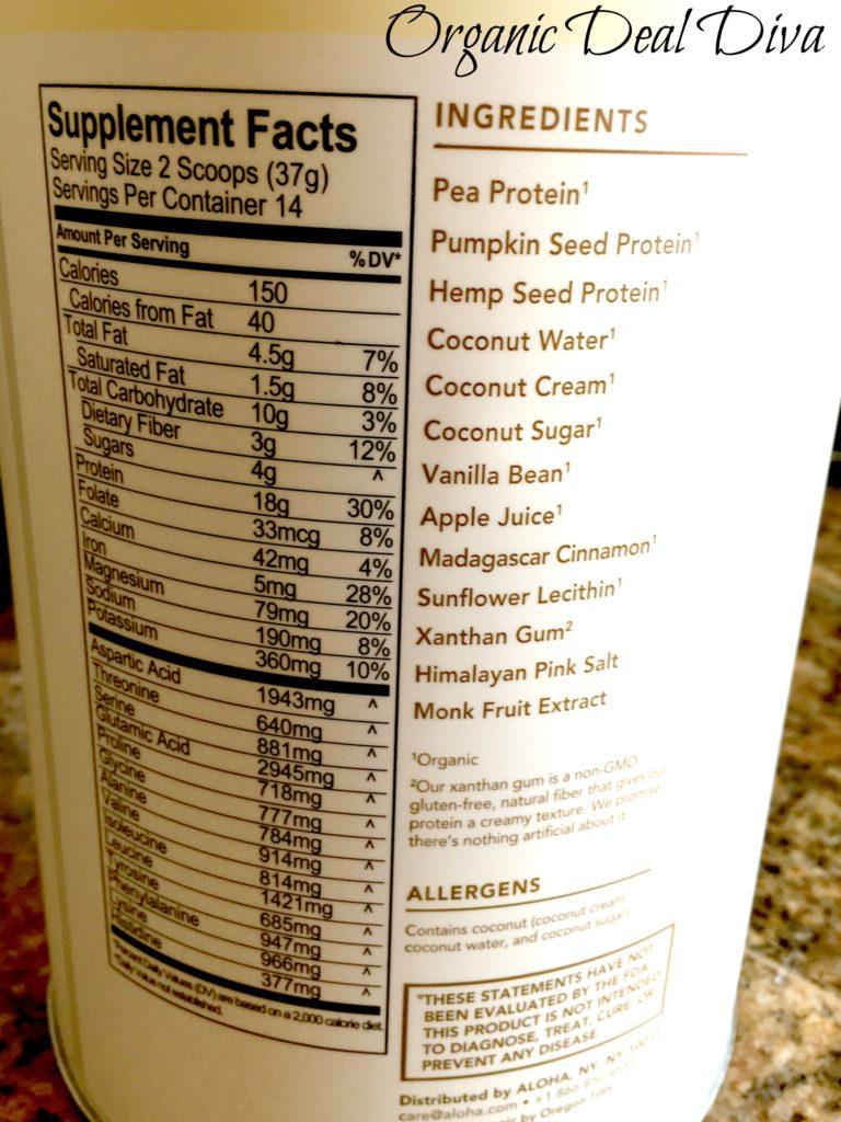 Aloha Ingredients