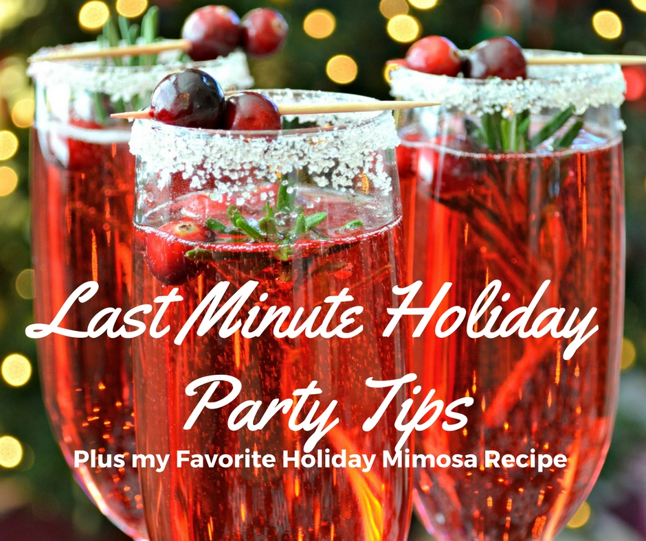 last minute holiday party tips holiday mimosa recipe jessi living lovely. Black Bedroom Furniture Sets. Home Design Ideas