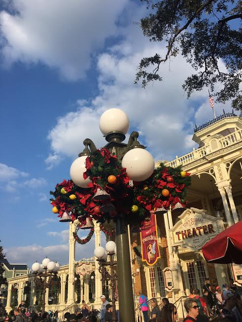 Decorations in the park