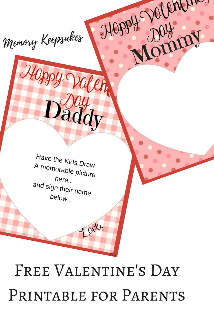 Free Valentineu0027s DayPrintable For Parents