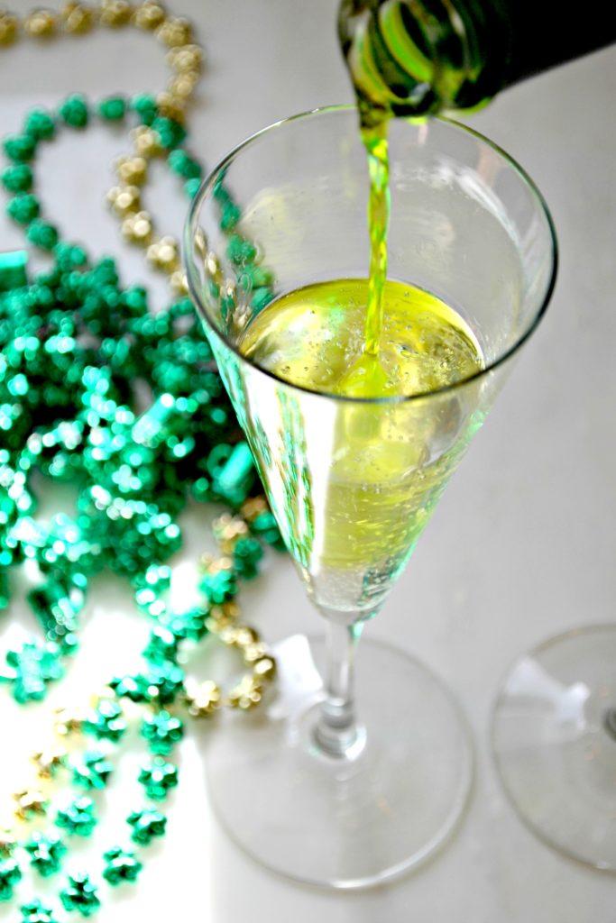 Midori + Champagne
