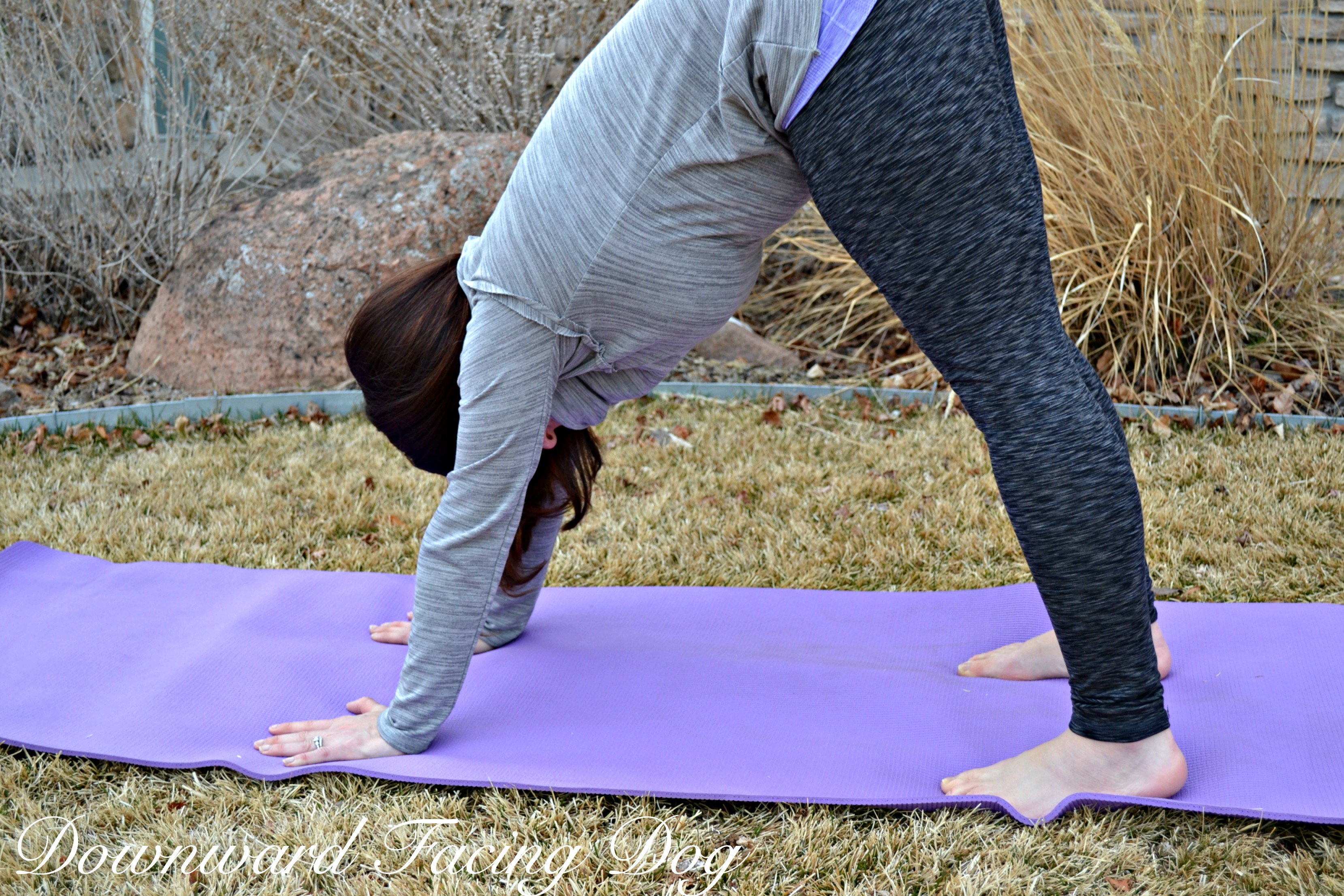 Yoga for Back Pain - Example of Downward facing dog.