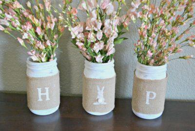 Easter Crafts - HOP Mason Jars
