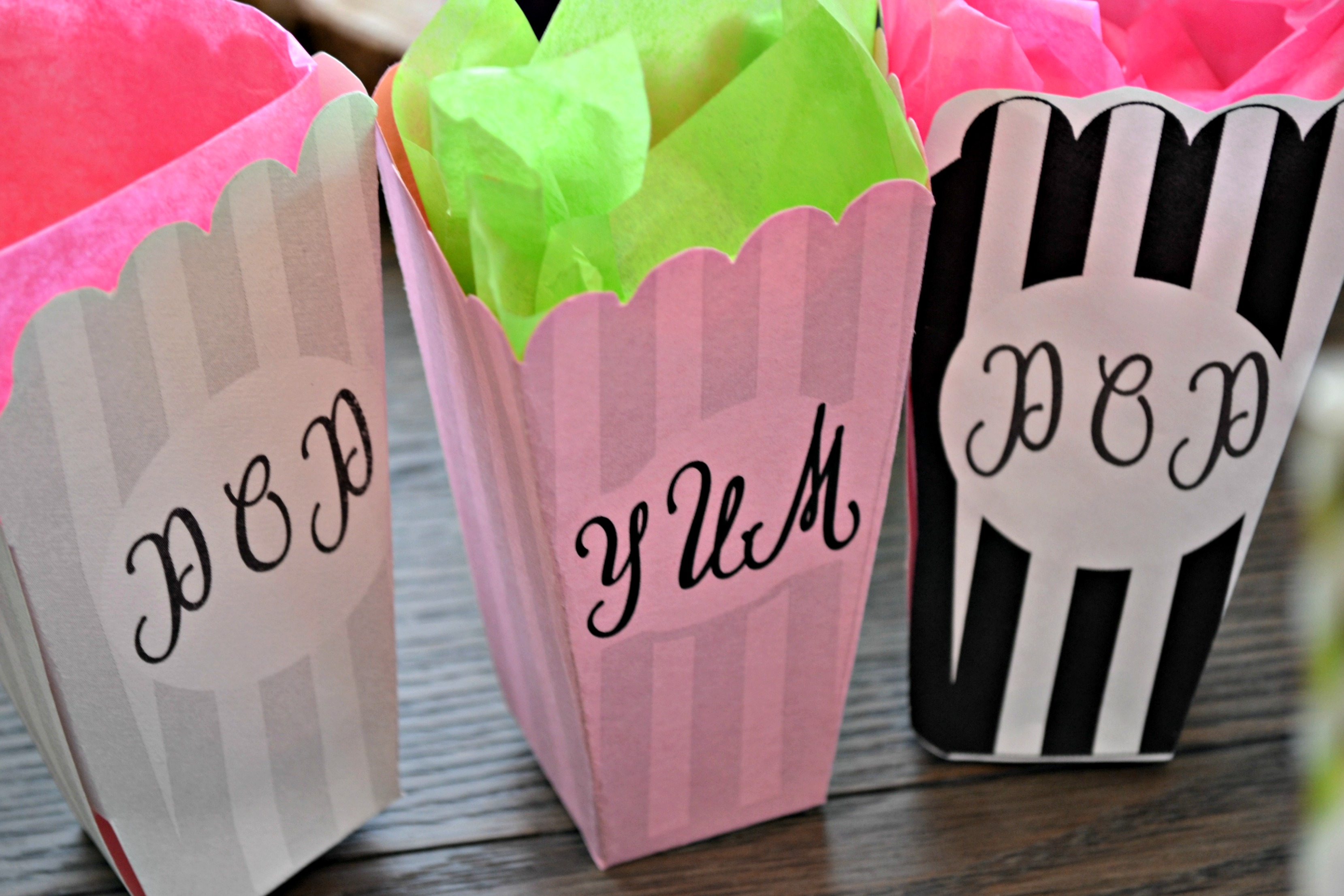 Printable Popcorn Bags - JessiLivingLovely