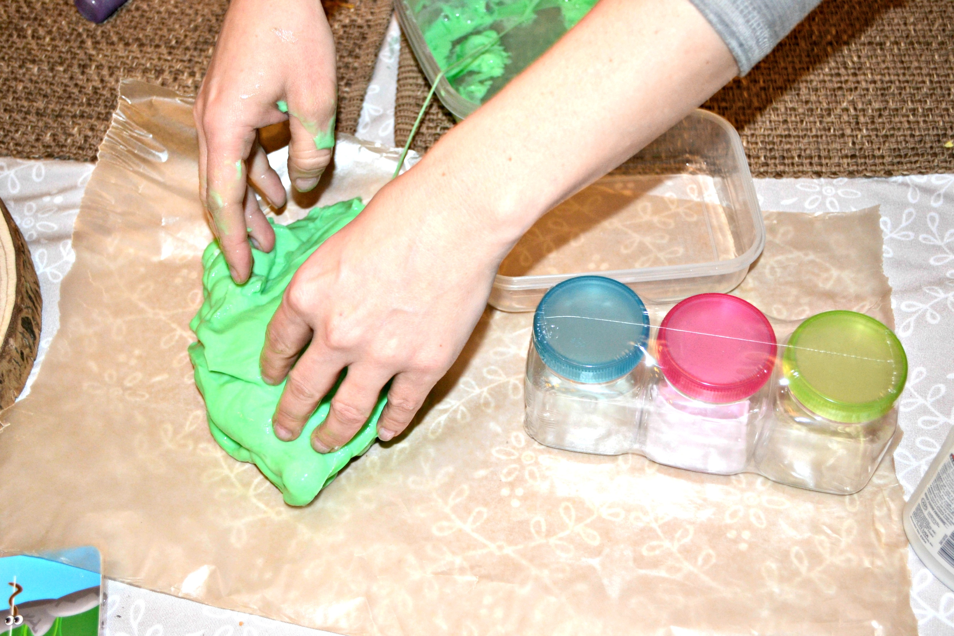 how to fix watery slime with baking soda
