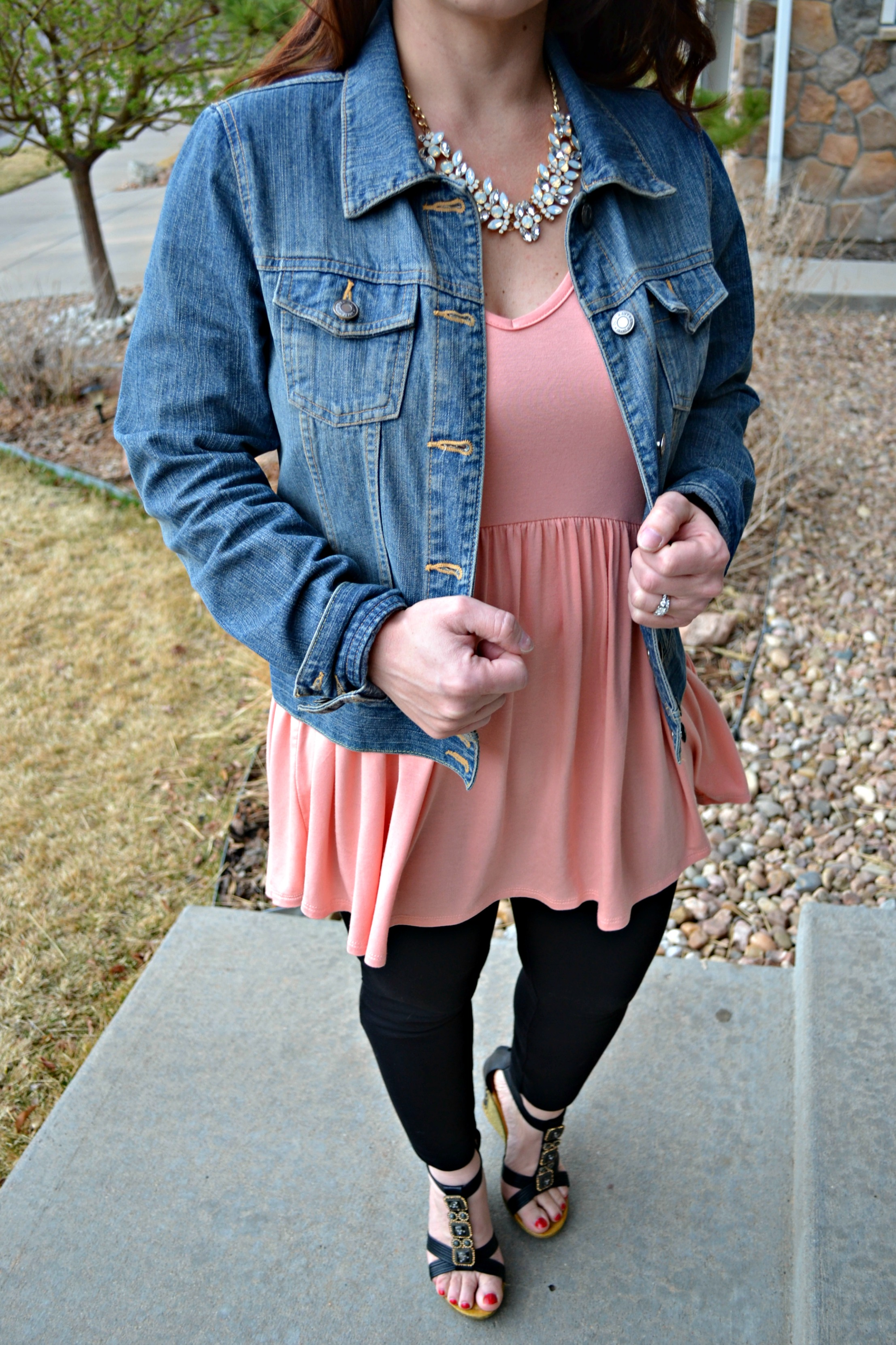 Tunic with a Jean jacket