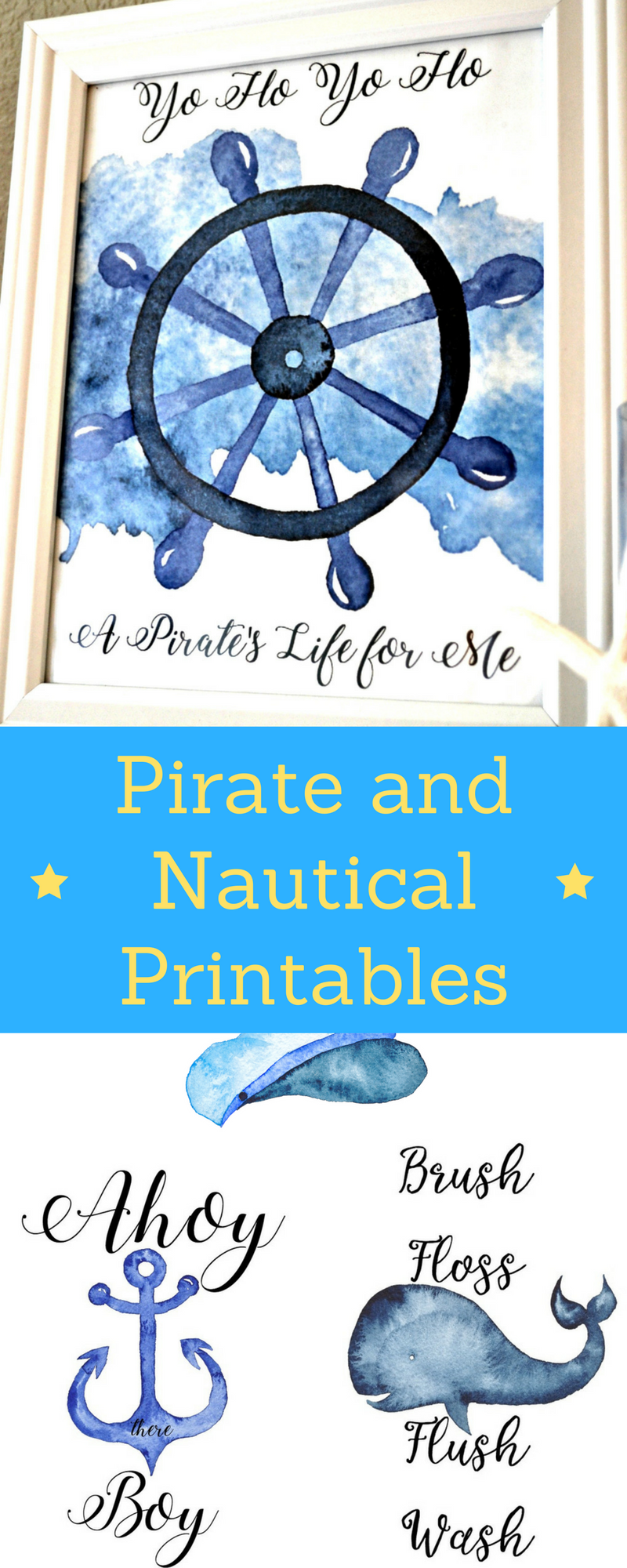 FREE Pirate and Nautical Printables