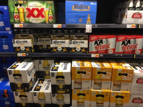 Corona and Modelo In Store