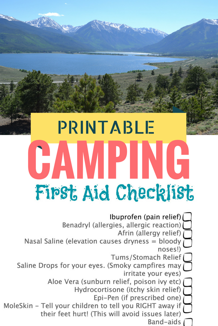 Printable Camping First Aid Checklist