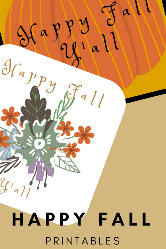 It's just a photo of Crafty Happy Fall Y All Printable