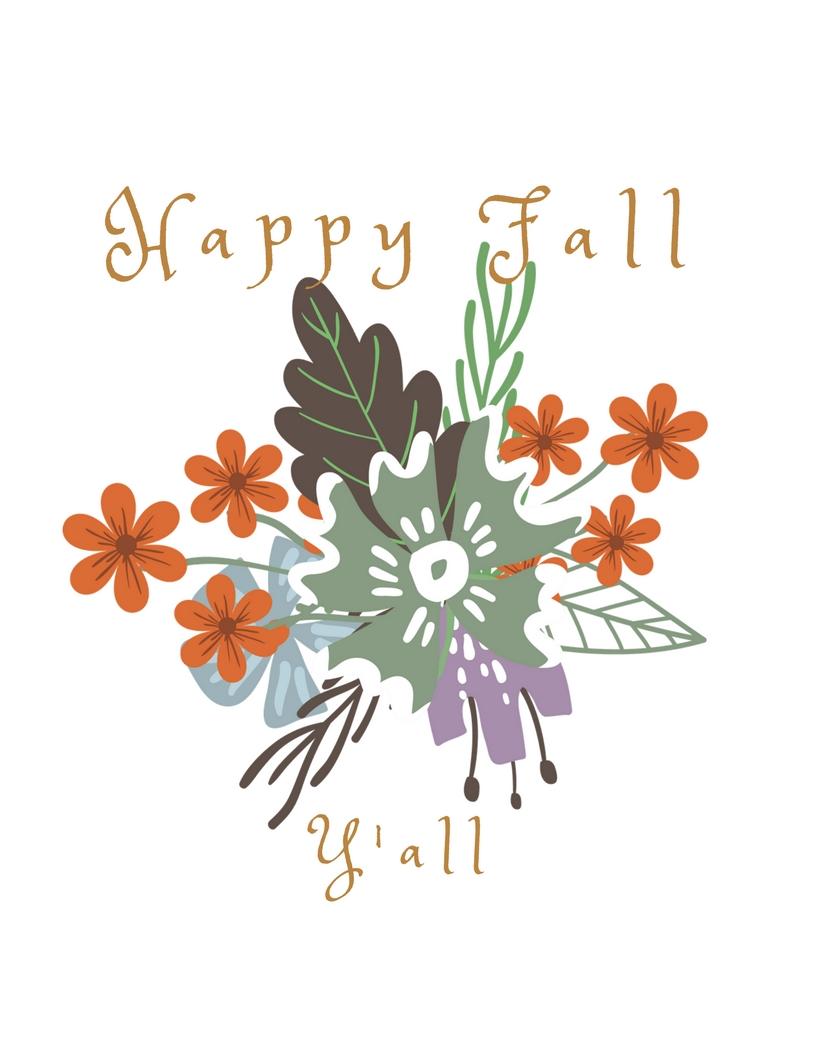 happy fall y'all printable