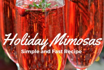 Festive Holiday Mimosas - Cranberry Mimosas