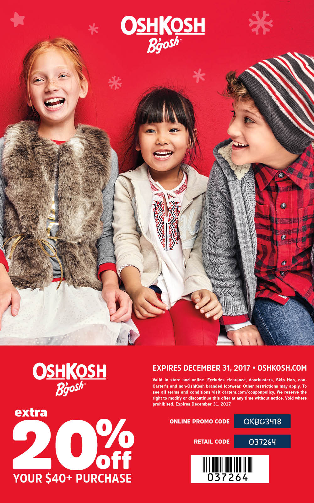 OshKosh 20% Off Coupon